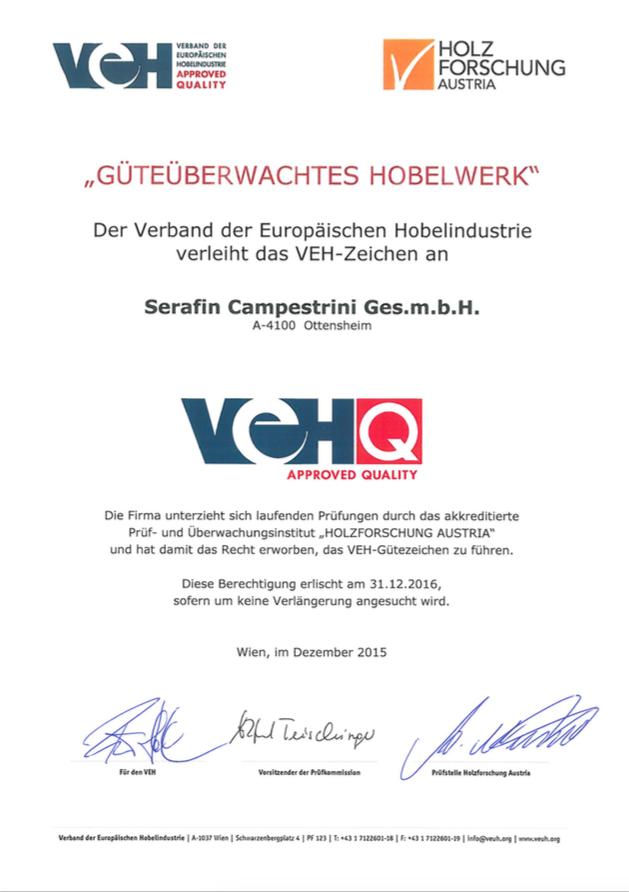 Logo VEH Gütezeichen