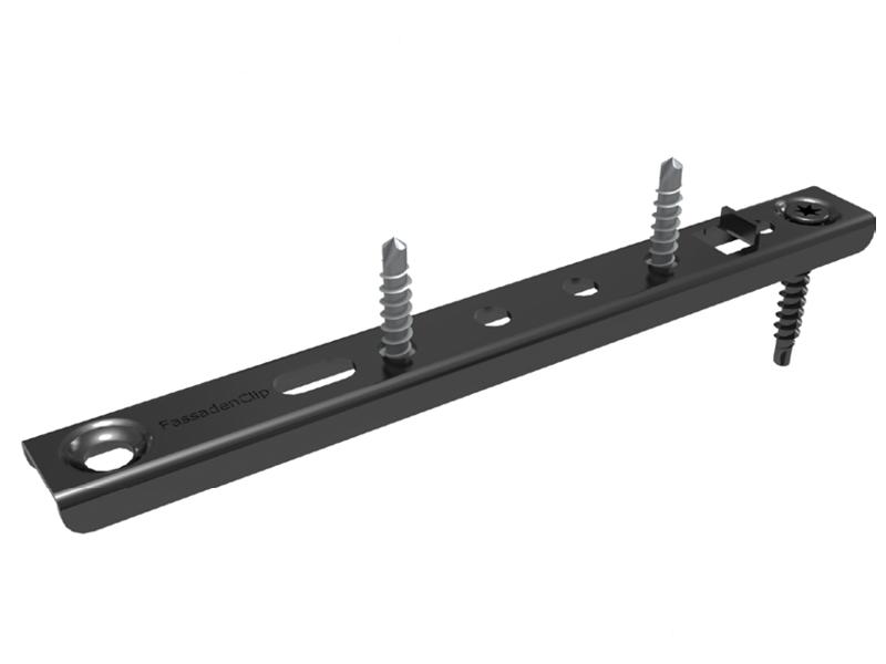Der FassadenClip® FCS ist die optisch perfekte Lösung für die Befestigung von Holzfassaden.