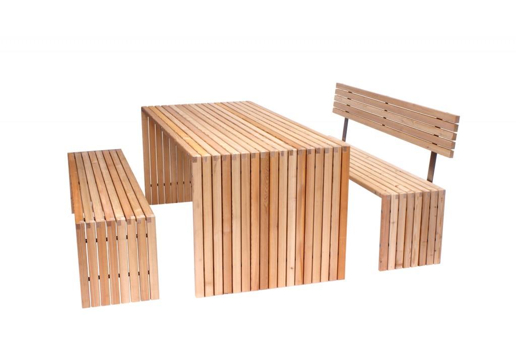 Gartenmöbel aus Holz im Set von Seca