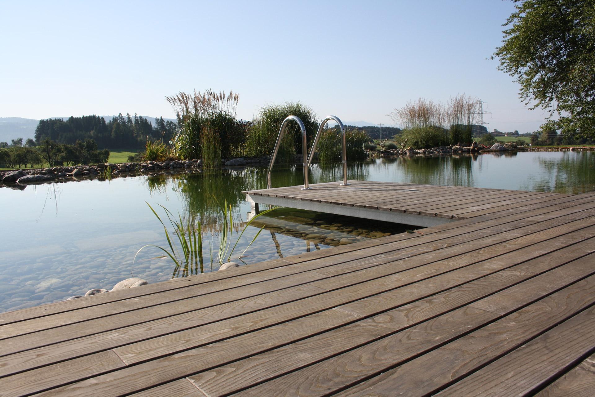Seca Referenz Terrasse Teich Serafin Campestrini Gmbh Ihr