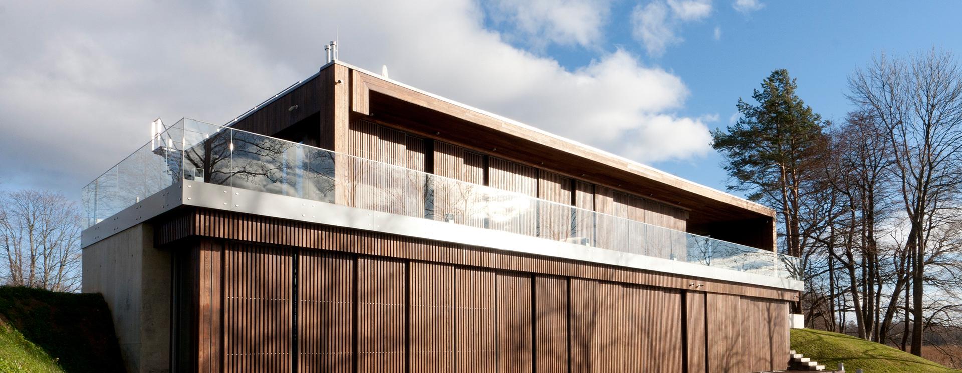 fassade haus haus m modern haus fassade stuttgart von m3. Black Bedroom Furniture Sets. Home Design Ideas