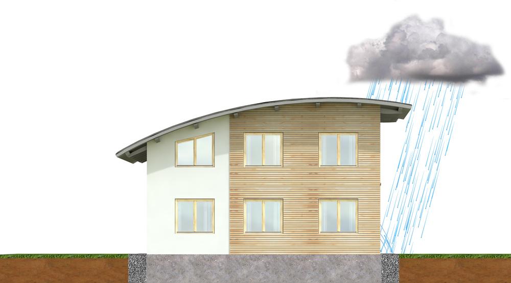 Thema Holzschutz: Holz muss gepflegt und vor Witterung geschützt werden, wie hier auf der Grafik dargestellt