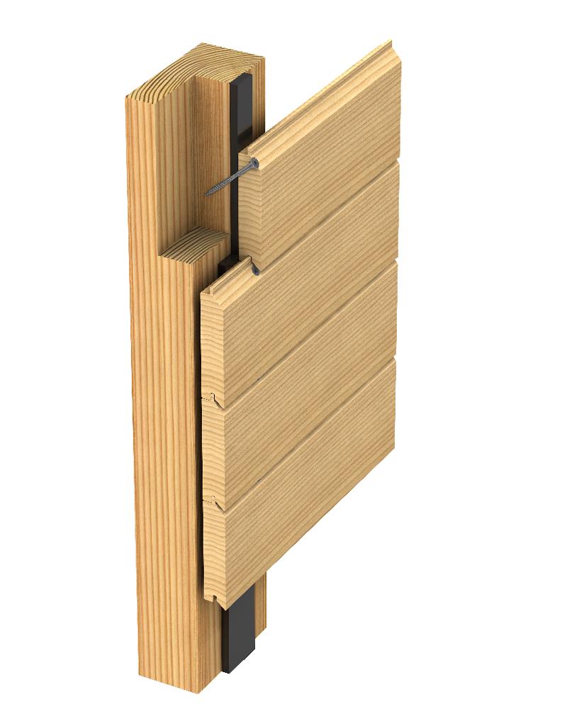 Befestigung Fassade; Befestigung geeinget für Nut-/Feder-Profile
