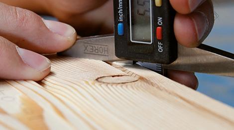 Holzqualität prüfen