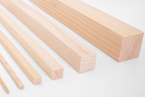 Vierkantleiste Fichte/Tanne - 1