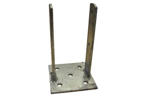 Zaunpfostenträger zum Dübeln Höhe 250mm - 1